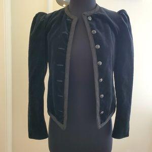 Vintage I. Magnin Black Velvet Jacket Blazer S